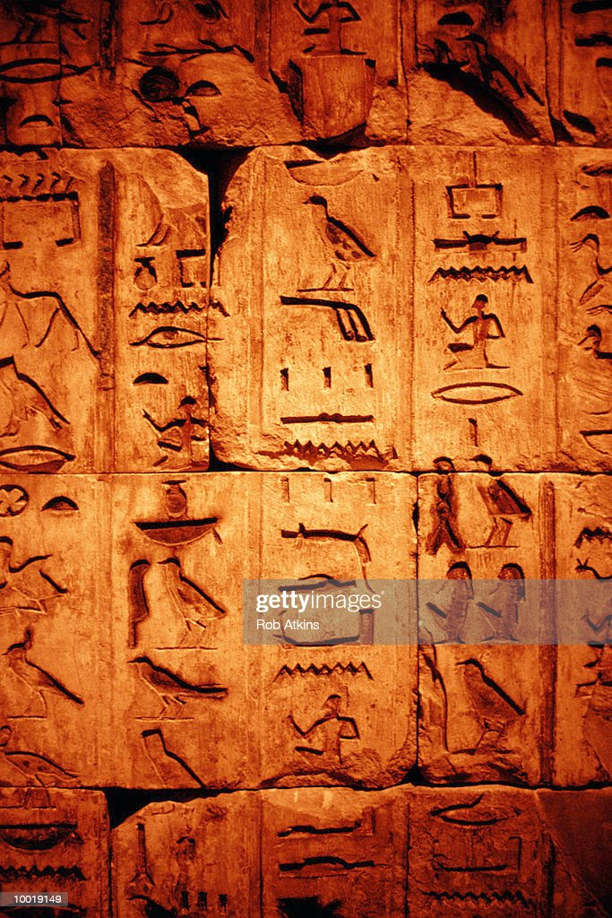EGYPTIAN HIEROGLYPHICS : Stockfoto