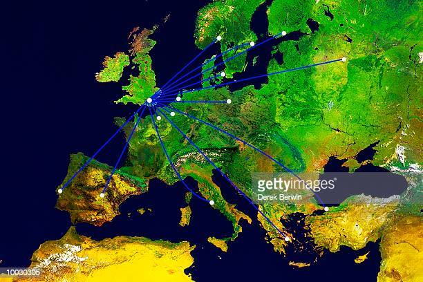 EUROPE WHERE PATHS JOIN CAPITALS TO LONDON