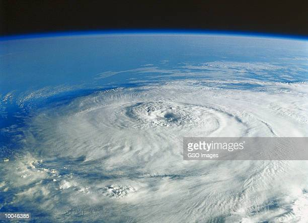 hurricane in the gulf of mexico by nasa space photo - orkaan stockfoto's en -beelden
