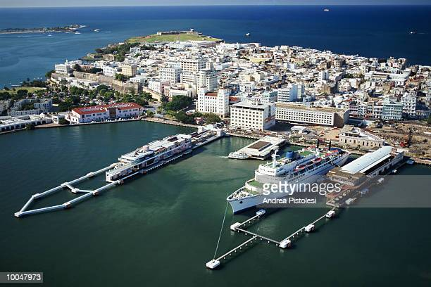 the port in old san juan, puerto rico - san juan stock pictures, royalty-free photos & images