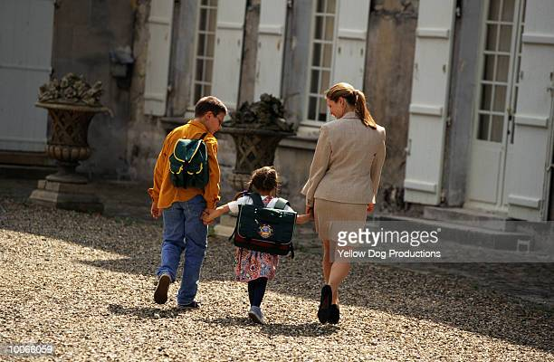 TAKING KIDS TO SCHOOL IN SENLIS, FRANCE