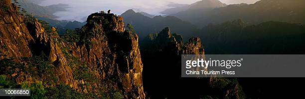 mount huangshan, anhui province, peoples republic of china - lotus flower peak stock pictures, royalty-free photos & images