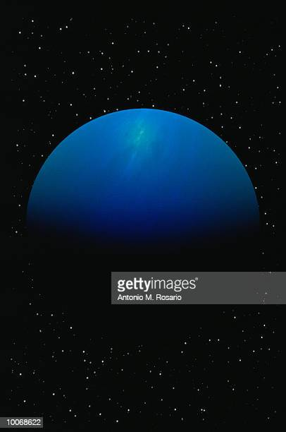digital illustration of uranus in space - uranus stock pictures, royalty-free photos & images