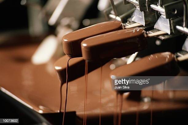 ice cream factory - chocolate factory stock photos and pictures