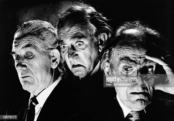 three horrified mature businessmen - image stock pictures, royalty-free photos & images