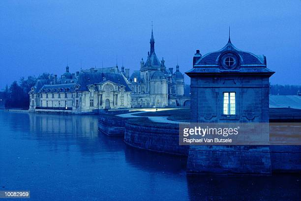castle of chantilly in picardie region, france - hauts de france stock photos and pictures