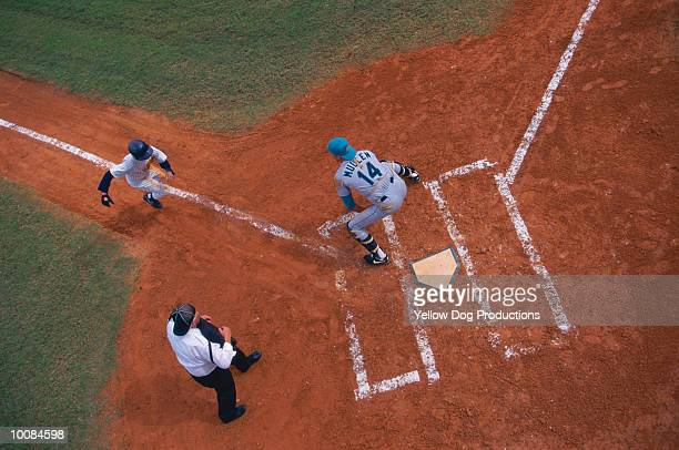 baseball at home plate - home base sports stock pictures, royalty-free photos & images