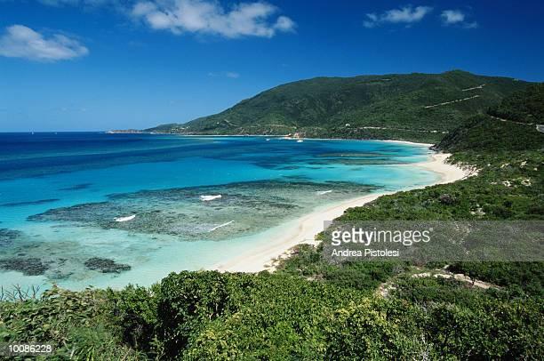 savannah bay in gorda on the british virgin islands - islas de virgin gorda fotografías e imágenes de stock