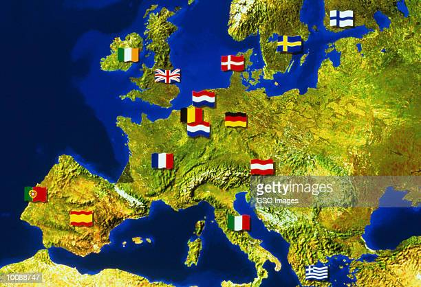 EUROPE WITH EC FLAGS