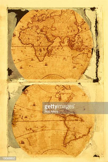 POLAROID TRANSFER OF AN OLD WORLD MAP
