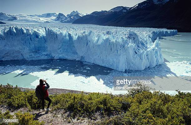 PERITO MORENO GLACIER AT PATAGONIA IN THE ANDES OF ARGENTINA