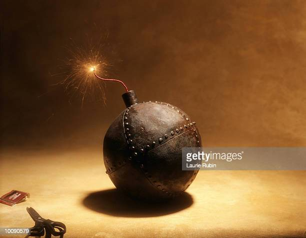 lit time bomb - time bomb stock photos and pictures