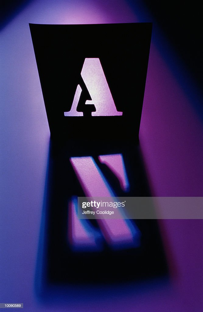 LETTER A WITH LETTER Z SHADOW : Stock Photo