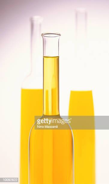 bottles of olive oil - cruet stock photos and pictures