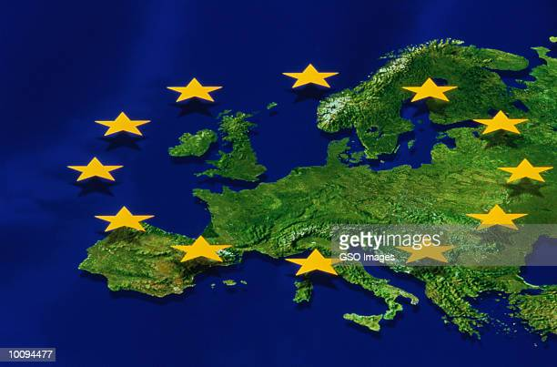 EUROPE WITH EC FLAG