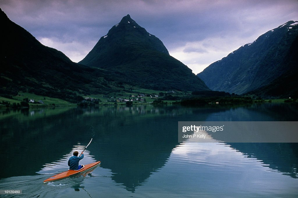 NORWEGIAN BEAT KAYAK : Stock Photo