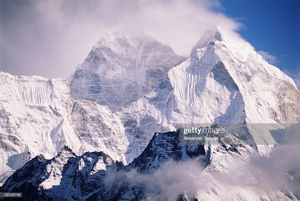 KANTEGA PEAK, EVEREST, HIMALAYAN MOUNTAINS, NEPAL : Stock Photo