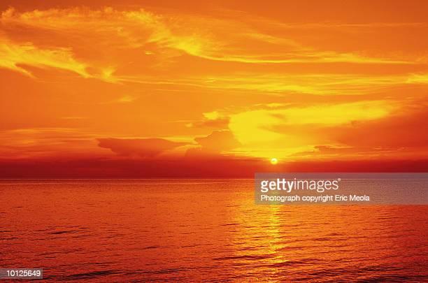 sunrise over ocean - bimini stock photos and pictures