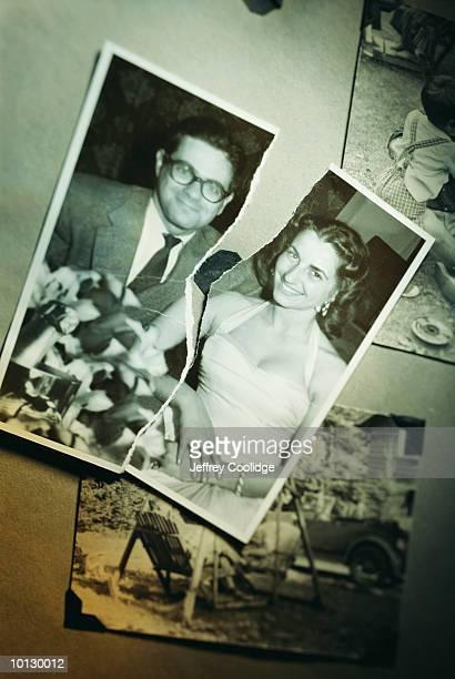 PHOTO OF COUPLE TORN IN HALF, DIVORCE