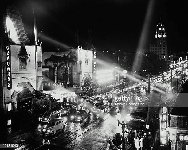 1940s movie premiere, hollywood, california - hollywood california stock pictures, royalty-free photos & images
