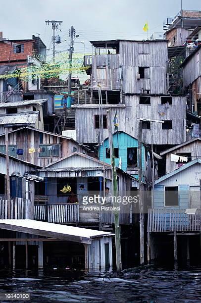 manaus amazonas, brazil, river dwellings - manaus - fotografias e filmes do acervo