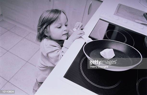 YOUNG GIRL WITH SKILLET, DANGER