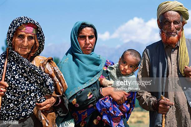 pahalgam, kashmir, india shepherds - kashmir stock photos and pictures