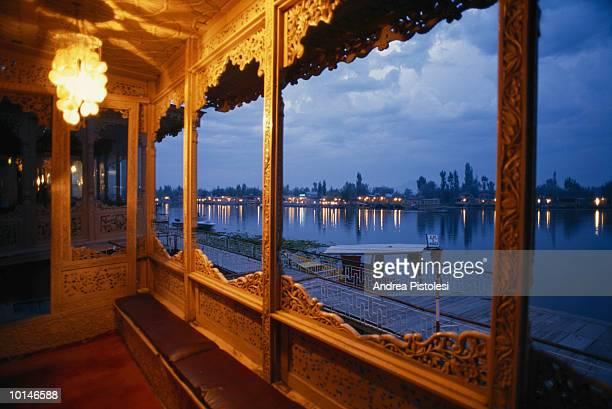 houseboats, india, kashmir, srinagar - kashmir valley stock photos and pictures