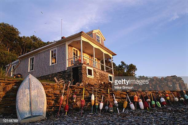 SEASIDE COTTAGE WITH LOBSTER BUOYS