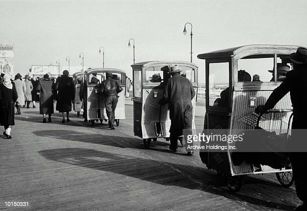 JERSEY BOARDWALK, ATLANTIC CITY,  CIRCA 1940S