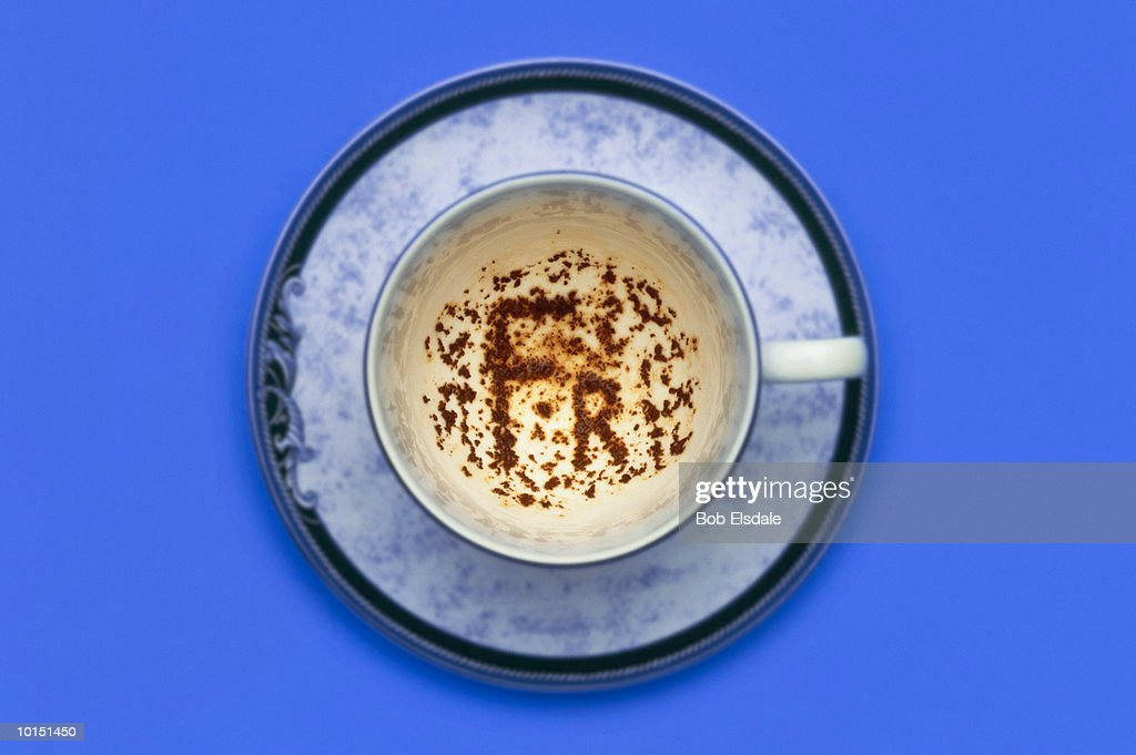 French Franc Symbol In Tea Leaves Stock Photo Getty Images
