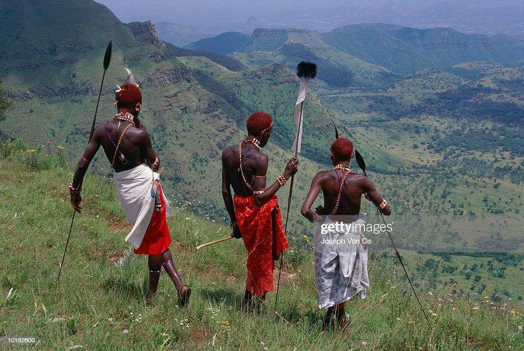 SAMURU MORAN WARRIORS, KENYA : Stockfoto