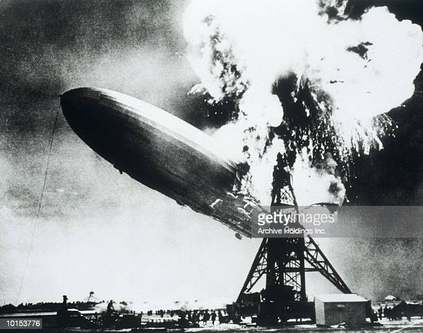 GERMAN HINDENBURG EXPLODING, MAY 6, 1937