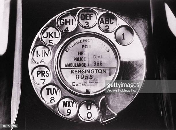 ROTARY PHONE DIALING RING, 1950S