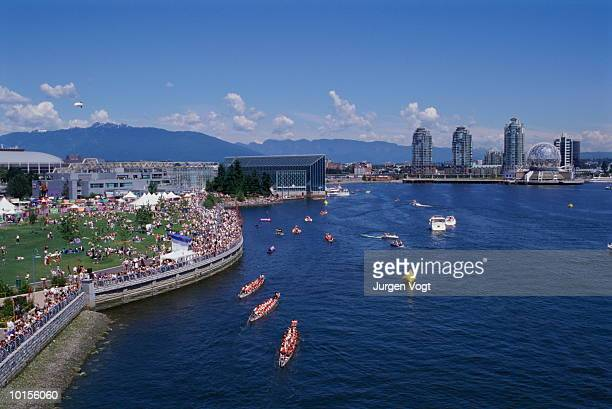 DRAGON BOAT RACES, VANCOUVER, BRITISH COLUMBIA, CANADA
