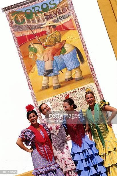 SPAIN, SEVILLA FAIR WOMEN, BULLRING