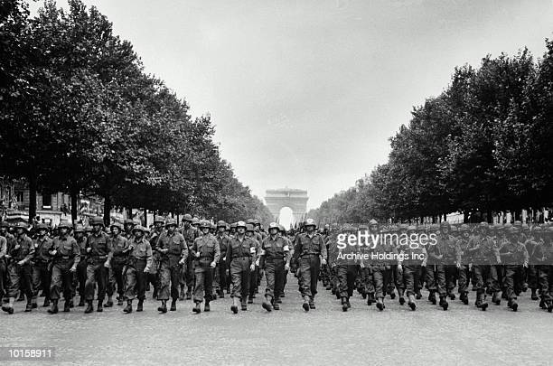 american troops, france, august 29, 1944 - world war ii stock pictures, royalty-free photos & images