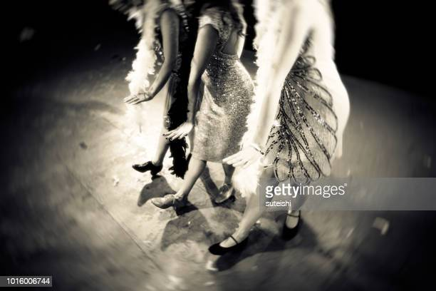 dance the charleston! - roaring 20s party stock photos and pictures