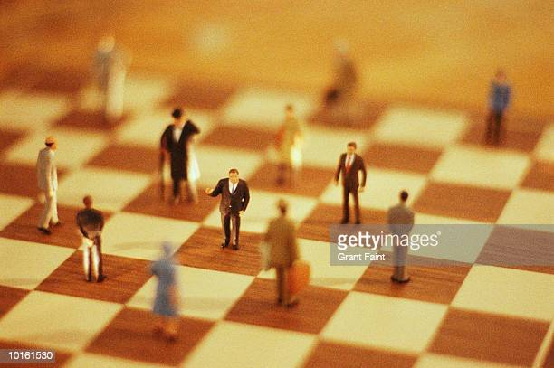 BUSINESS CONCEPT, MINIATURES CHESS BOARD