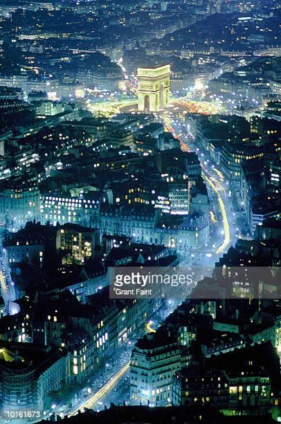 ARIAL VIEW OF ARC DE TRIOMPHE, PARIS