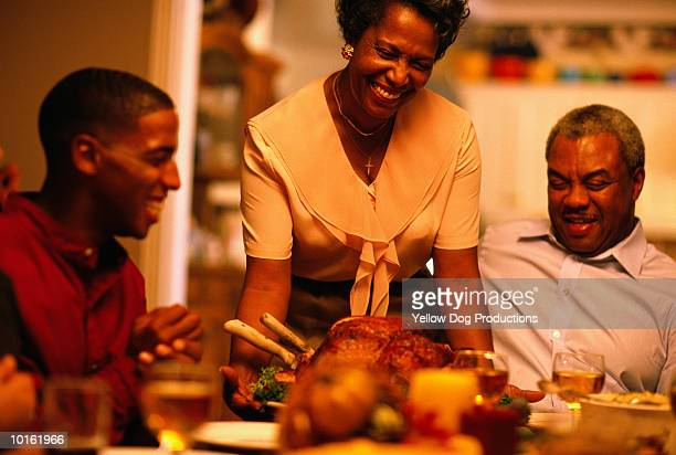 family, holiday dinner, the turkey - thanksgiving dog stock photos and pictures