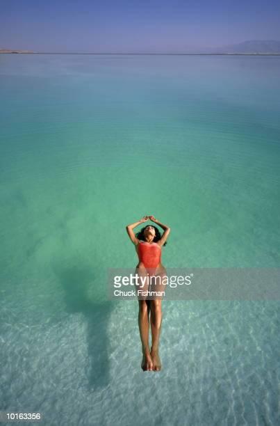 ISRAELI WOMAN FLOATING IN DEAD SEA