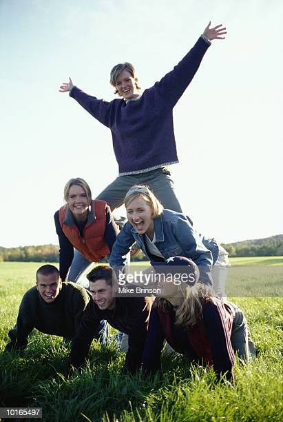 Human Pyramid Photos and Premium High Res Pictures - Getty