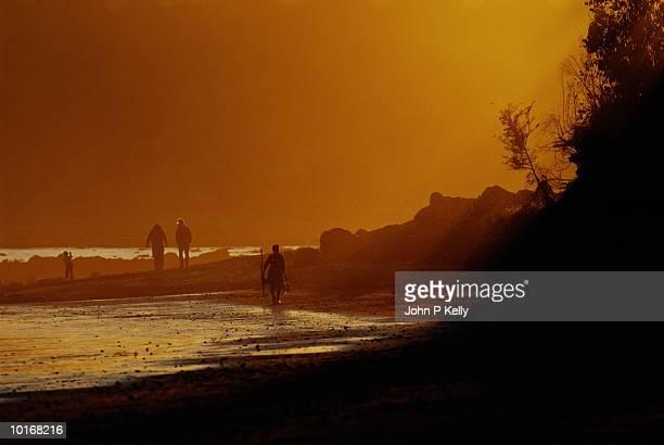 BEACH AT SUNSET, NORTHERN CALIFORNIA