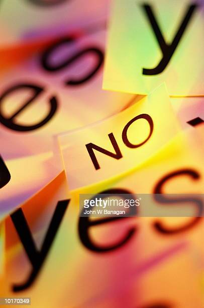 WORDS - YES AND NO