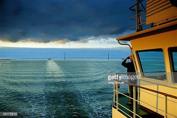 BRIDGE OF CONTAINER SHIP, BALTIC SEA