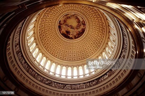 us capitol building, rotunda interior, washington dc, usa - rotunda stock pictures, royalty-free photos & images