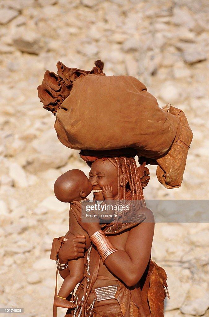 Himba Hairstyle Village Close Kunene River Epupa Namibia
