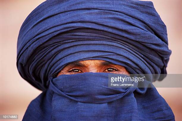 CLOSE-UP OF TUAREG, SAHARA, ALGERIA