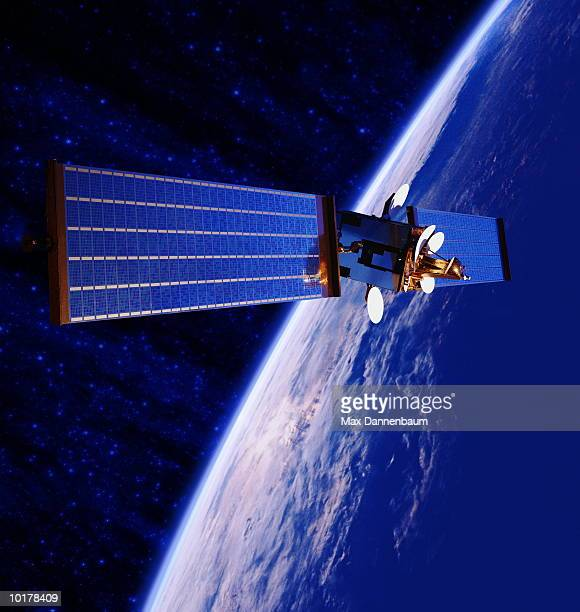 satellite in space - space exploration stock photos and pictures